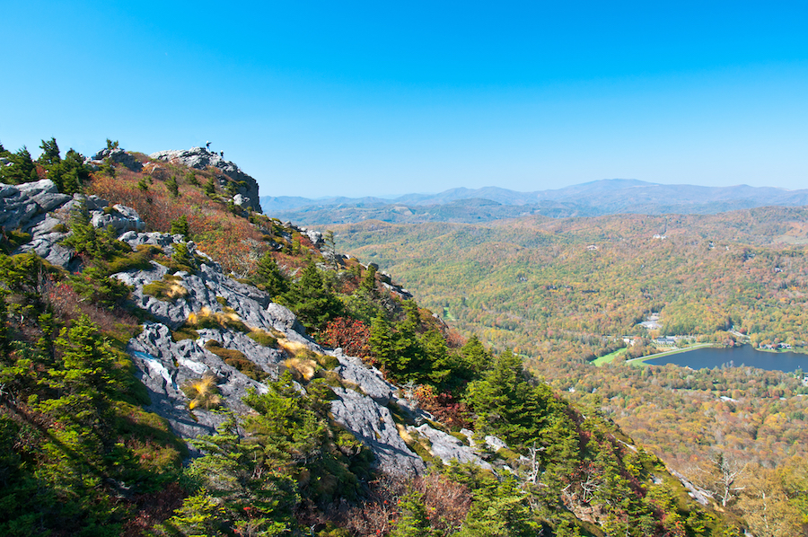 Flat Rock View in Grandfather Mountain State Park.