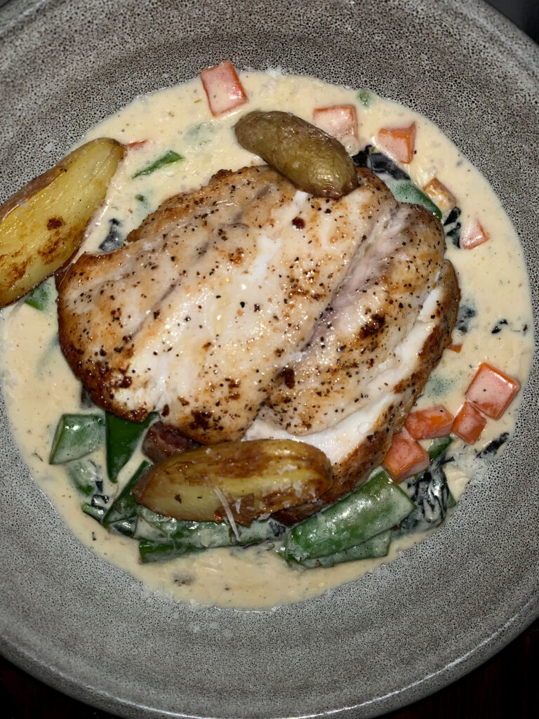 Florida grouper from Indigenous, a restaurant in Sarasota.