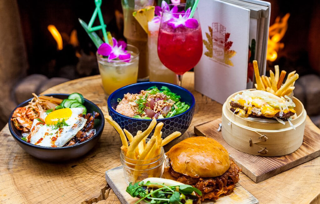 Food and cocktails from The Grass Skirt in San Diego