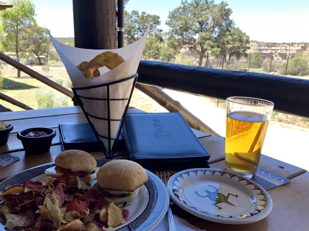 Food and drinks from the El Tovar Hotel.