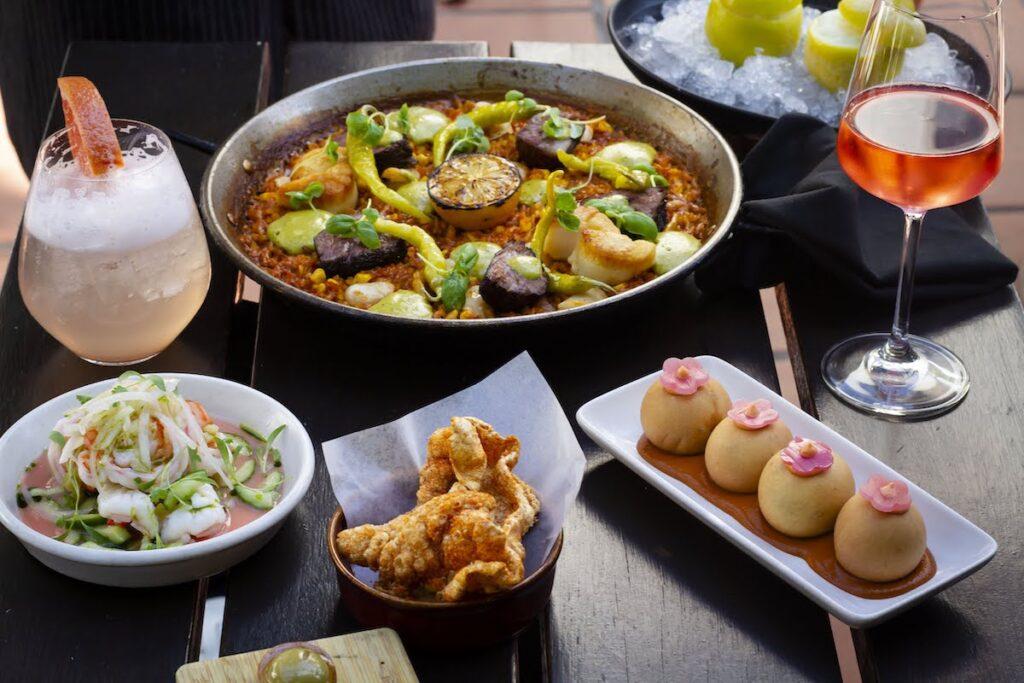 Food at Loquita in Santa Barbara.