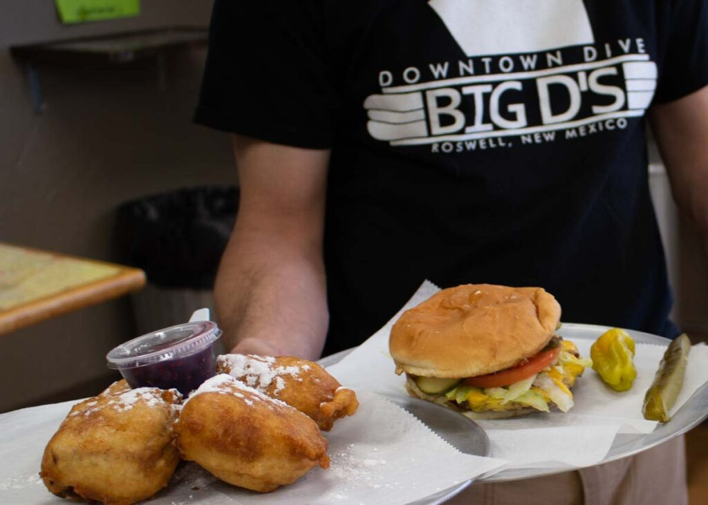 Food from Big D's Downtown Dive in Roswell.