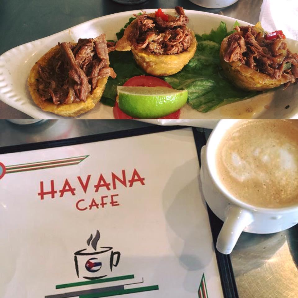 Food from Havana Cafe in Dallas.