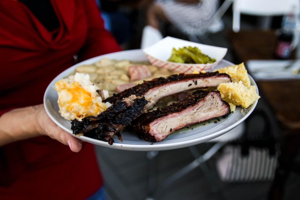 Food from Joe Riscky's Barbeque.