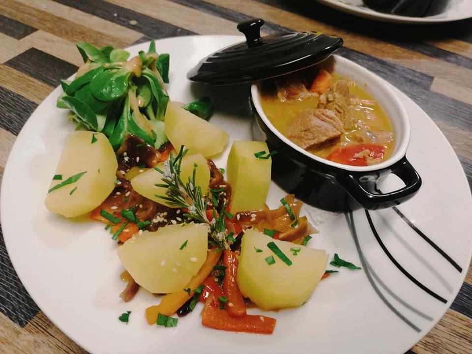 Food from Le Kent Brasserie in Dijon, France.
