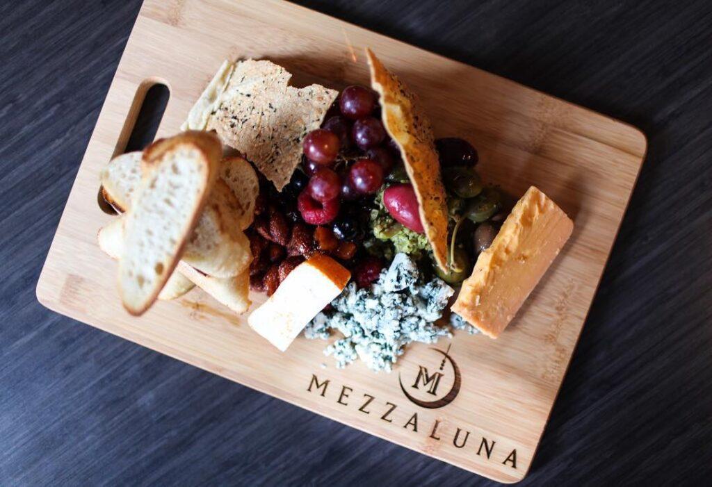 Food from Mezzaluna in Fargo, North Dakota.