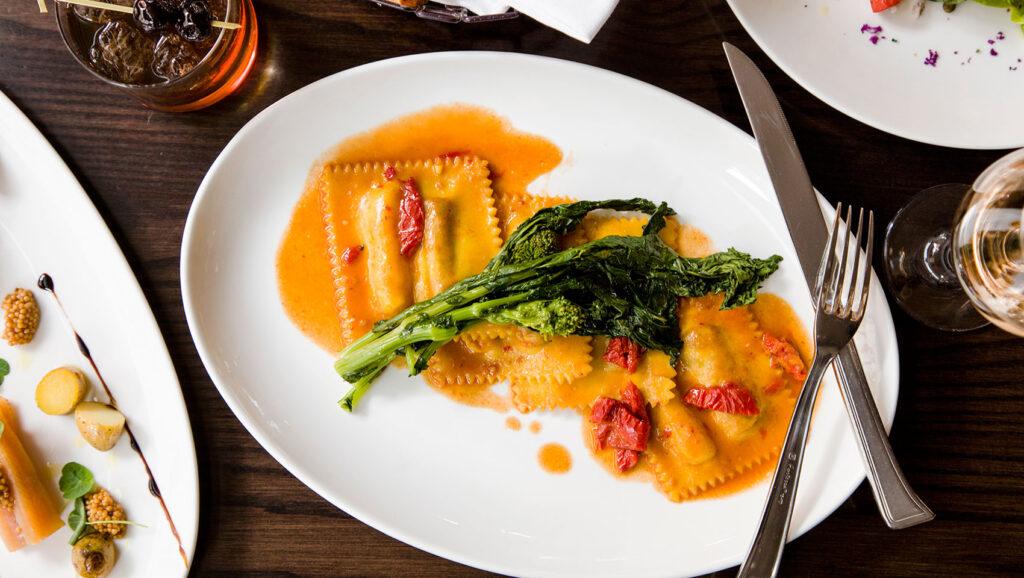 Food from Panzano at Hotel Monaco.