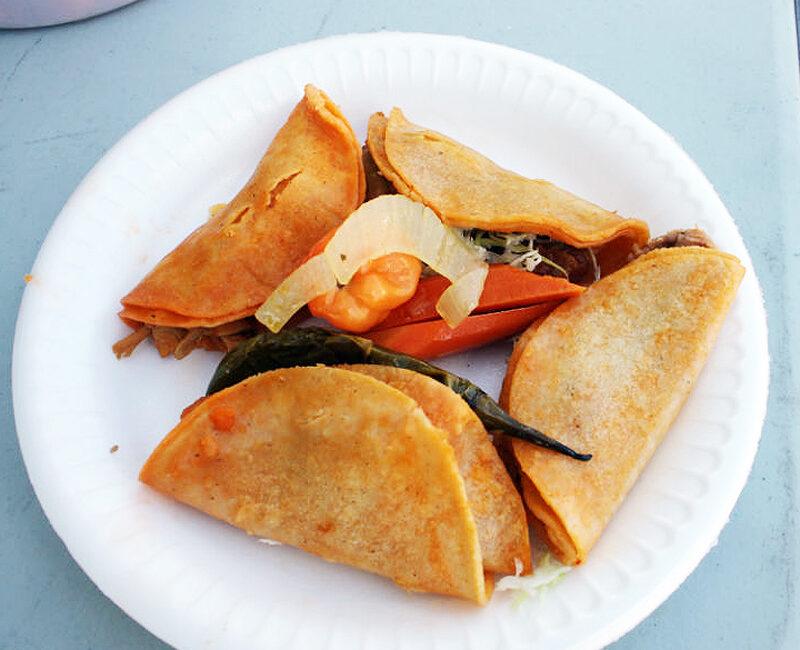 Food from Tacos Al Vapor.