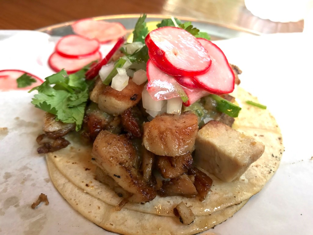 Food from Tallulah's Taqueria.