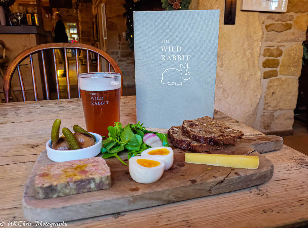 Food from The Wild Rabbit in Kingham, Oxon, England.