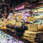 Food market in Bologna, Italy