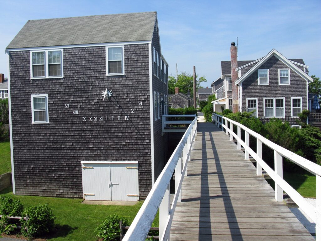 Foot bridge in Siasconset, Massachusetts.