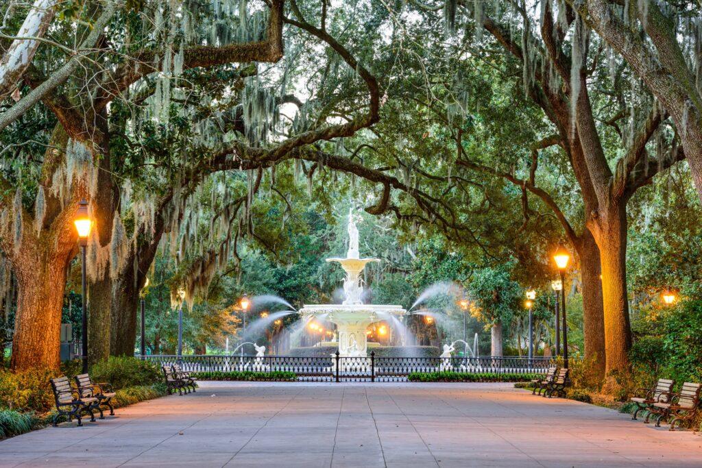 Forsyth Park Fountain in Savannah.