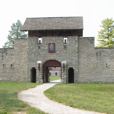 Fort De Chartres in Southern Illinois.