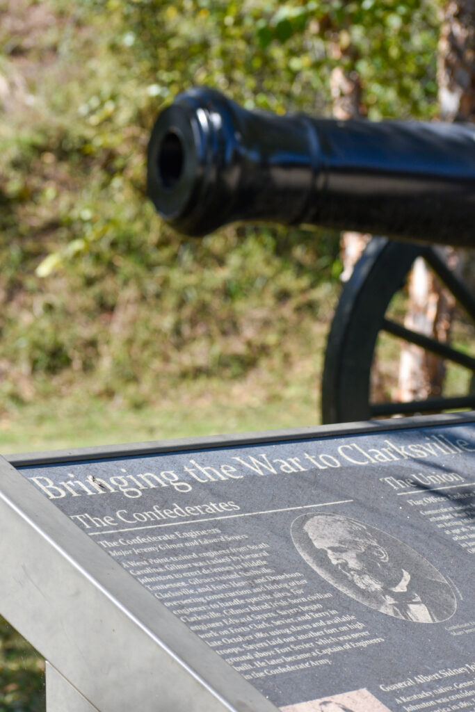Fort Defiance Civil War Park in Clarksville, Tennessee.