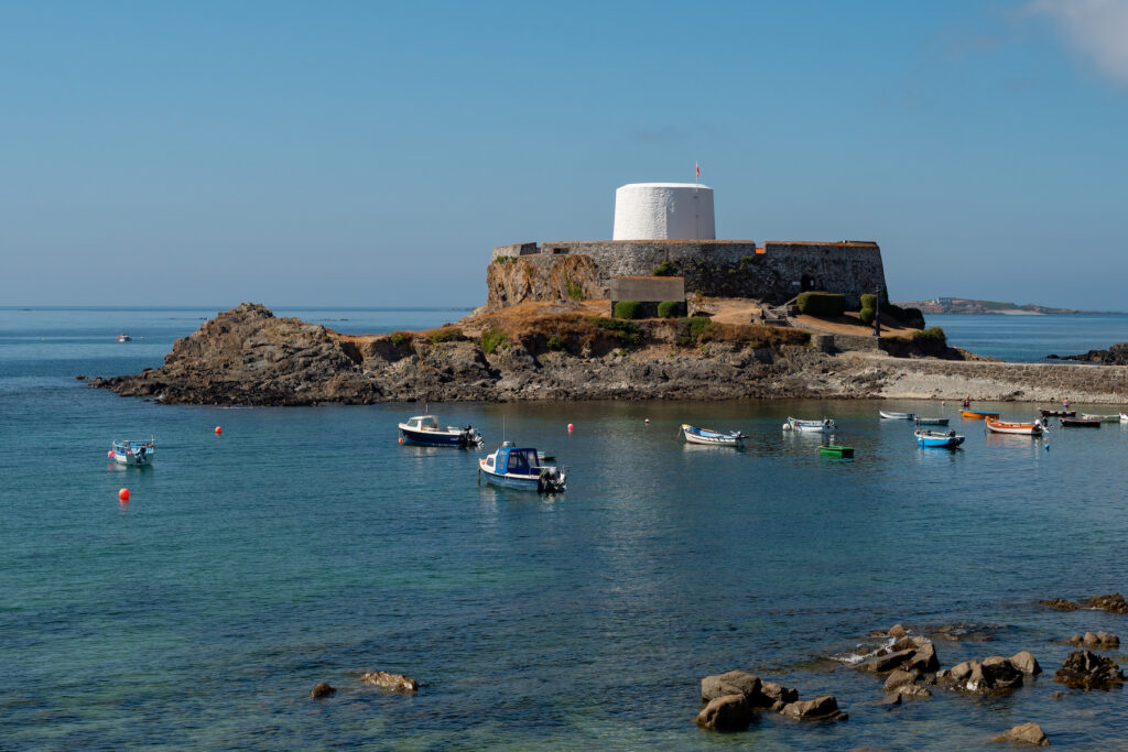 Fort Grey on Guernsey Island.