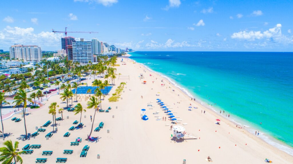 Fort Lauderdale beach in Florida.