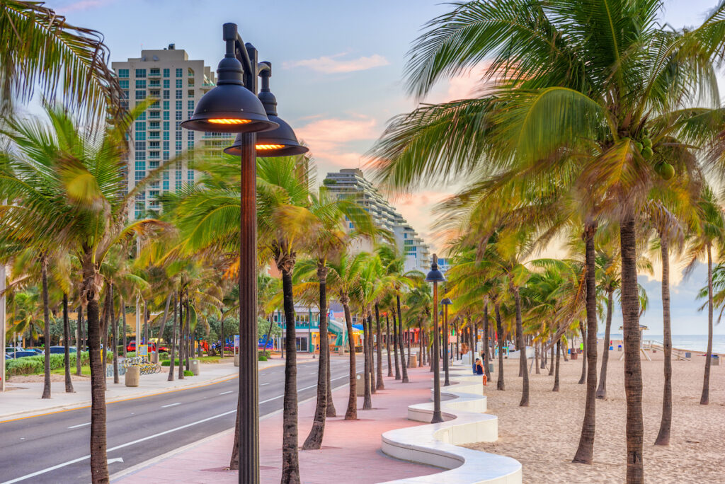 Fort Lauderdale Beach Park in Florida.