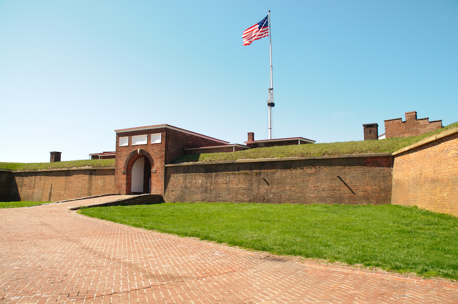 Fort McHenry National Monument in Maryland.