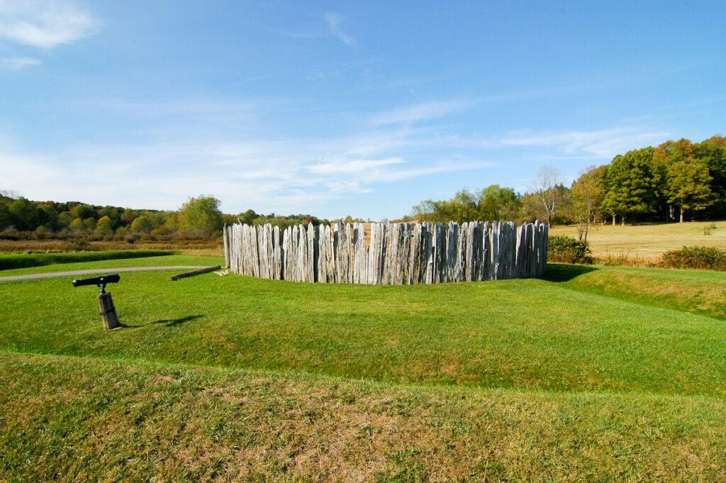 Fort Necessity Battlefield in the Laurel Highlands of Pennsylvania.
