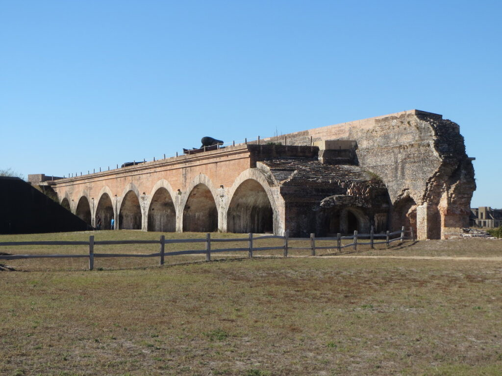 Fort Pickens at Gulf Islands National Seashore in Pensacola.