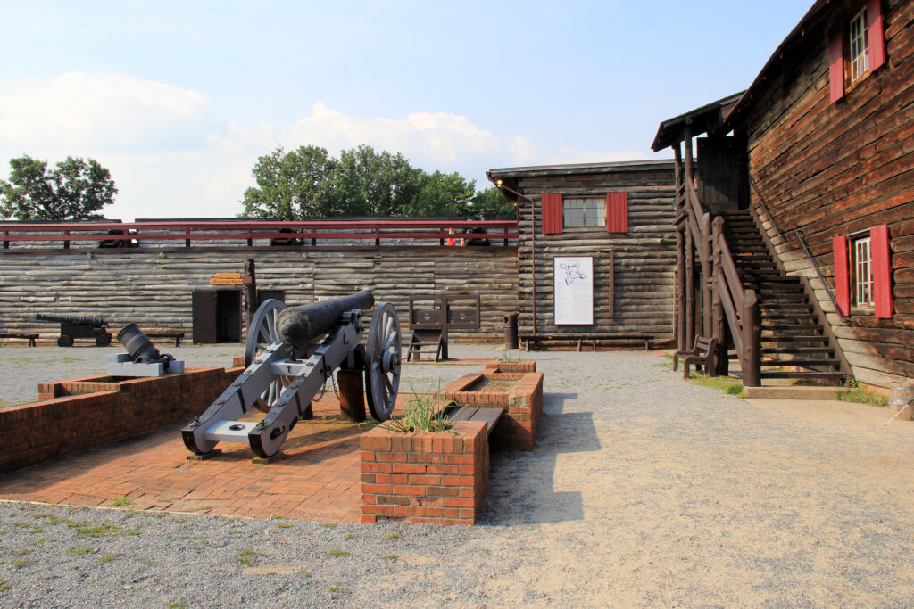 Fort William Henry in Lake George, New York.