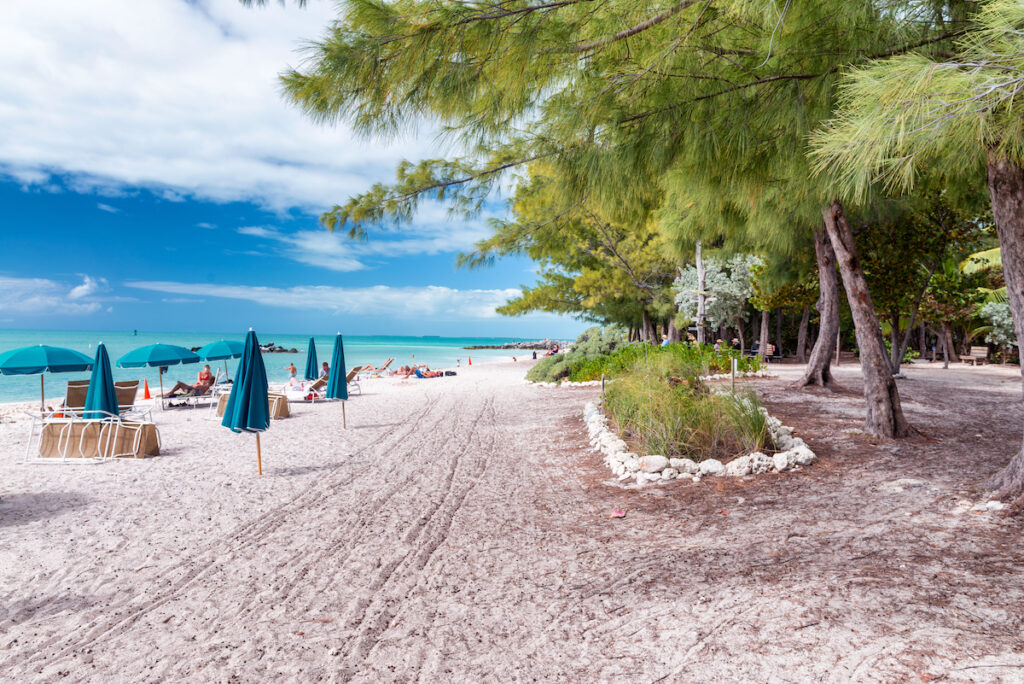 Fort Zachary Taylor Beach in Key West, Florida.