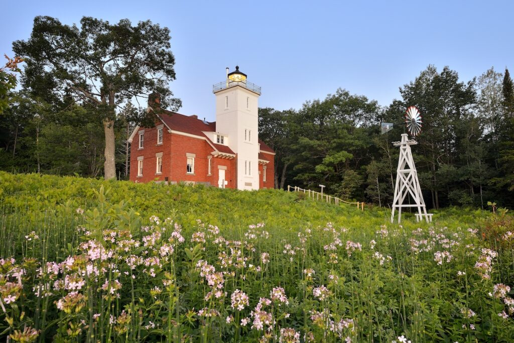 Forty Mile Point Lighthouse.