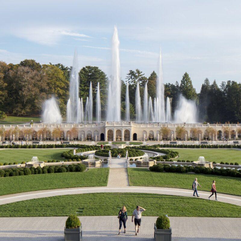 Fountain, Longwood Gardens, Kennett Square, Pennsylvania.