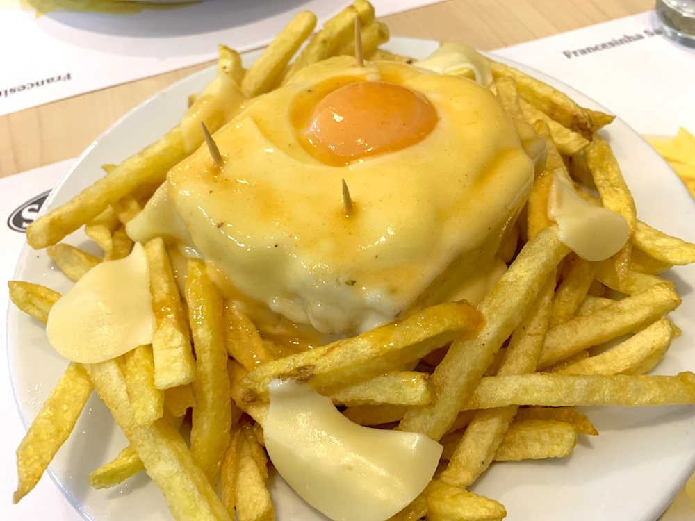 Francesinha in Porto, Portugal.