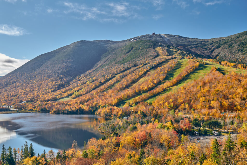 Franconia Notch State Park in New Hampshire.