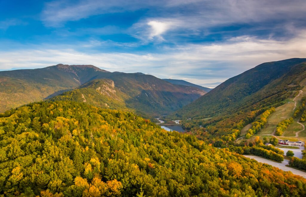 Franconia Notch State Park in Lincoln, New Hampshire.