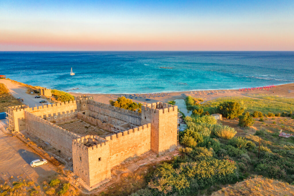 Frangokastello Fortress in the Chania region of Greece.