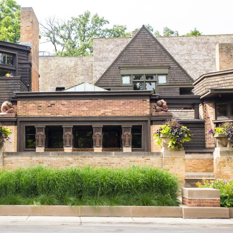 Frank Lloyd Wright's Home and Studio in Oak Park, Illinois.