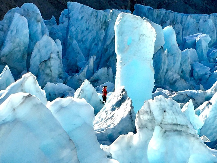 Franz Joseph Glacier on the rugged west coast of New Zealand is a must visit site