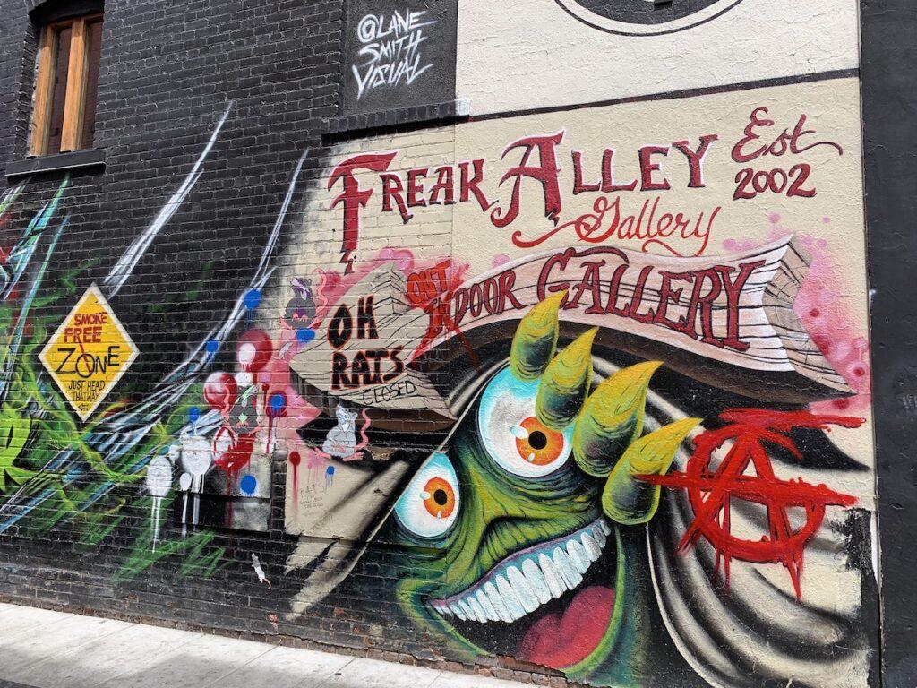 Freak Alley mural, Boise, Idaho.
