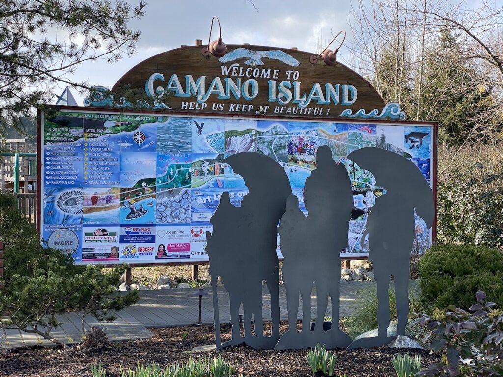Freedom Park sign, Camano Island, Washington.