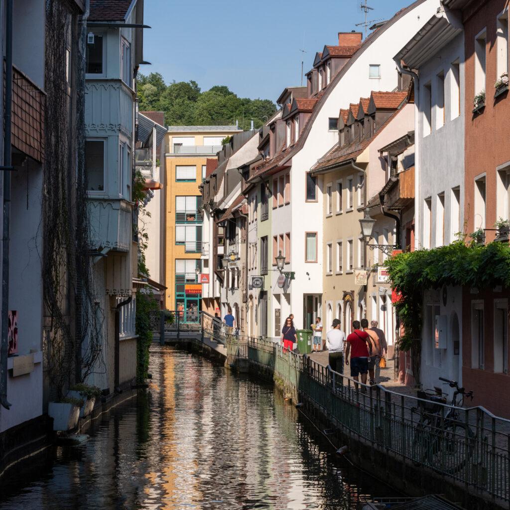 Freiburg's Little Venice neighborhood.