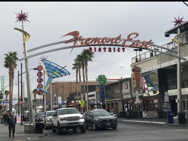 Fremont East street sign Vegas