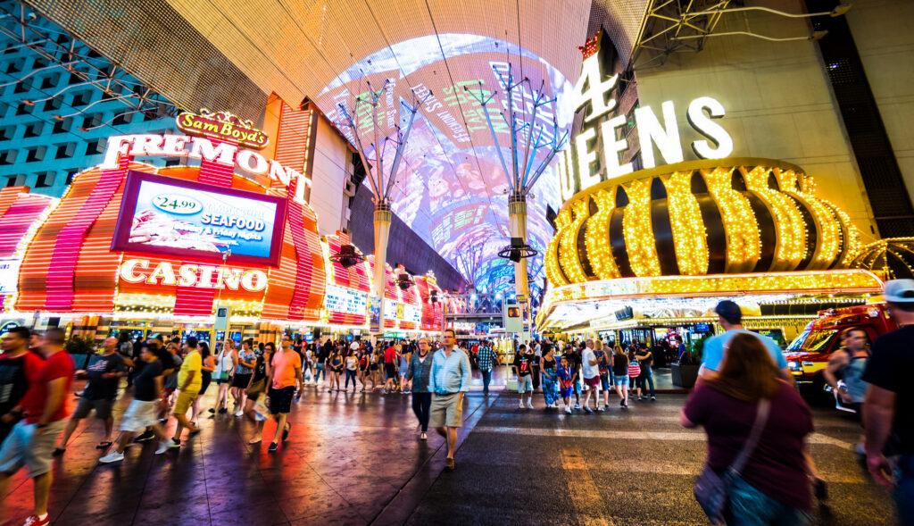Fremont Street in Las Vegas, Nevada.