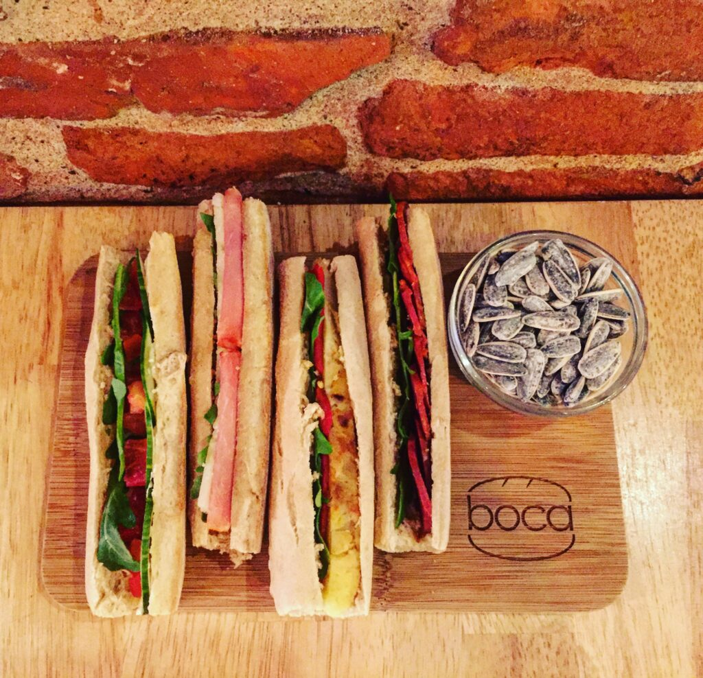 Fresh baguette sandwiches from Boca.