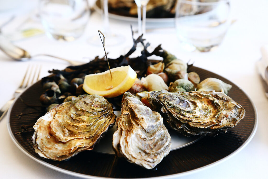 Fresh oysters in Honfleur, France.