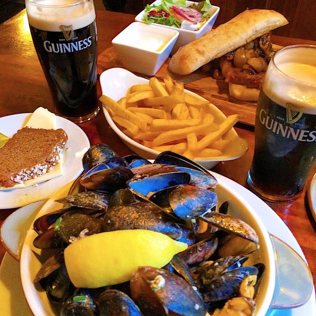 Fresh seafood in Ireland.