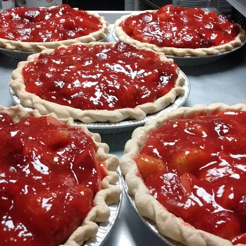 Fresh strawberry pie, The Confectionary.