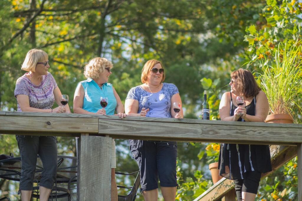 Friends enjoying the Shawnee Hills Wine Trail.