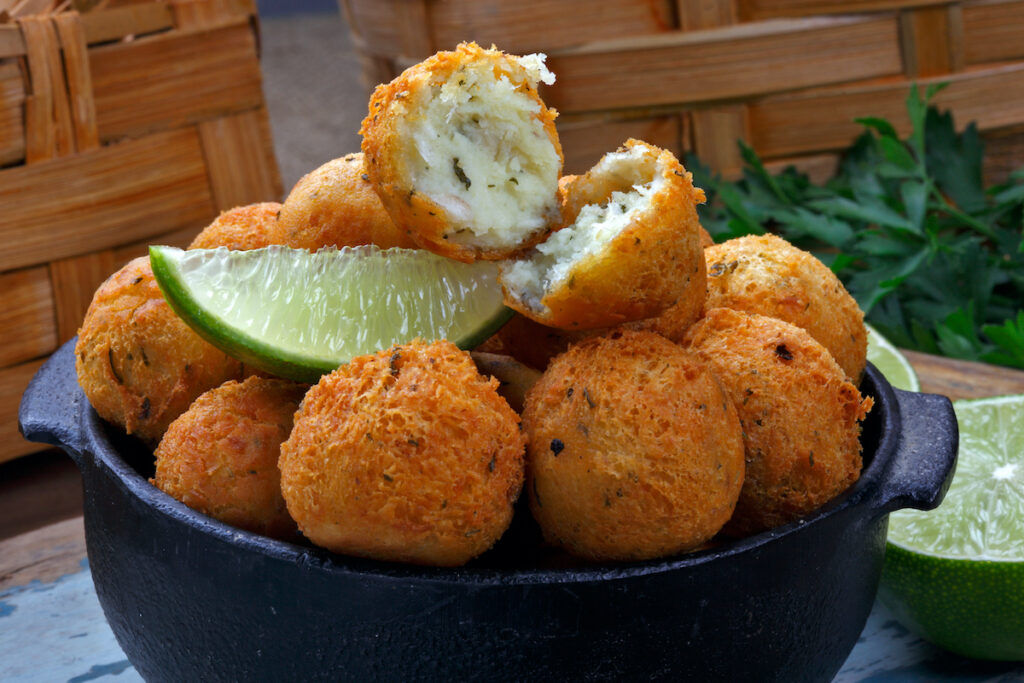 Fritters made with cod.