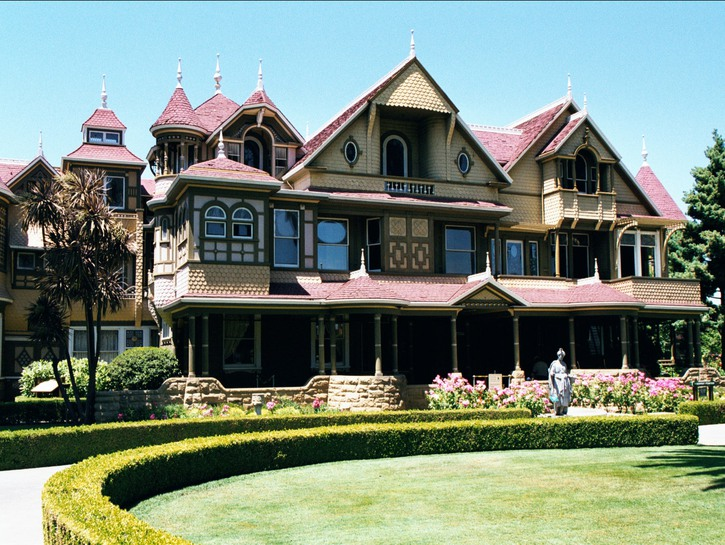 Front driveway of the Winchester House