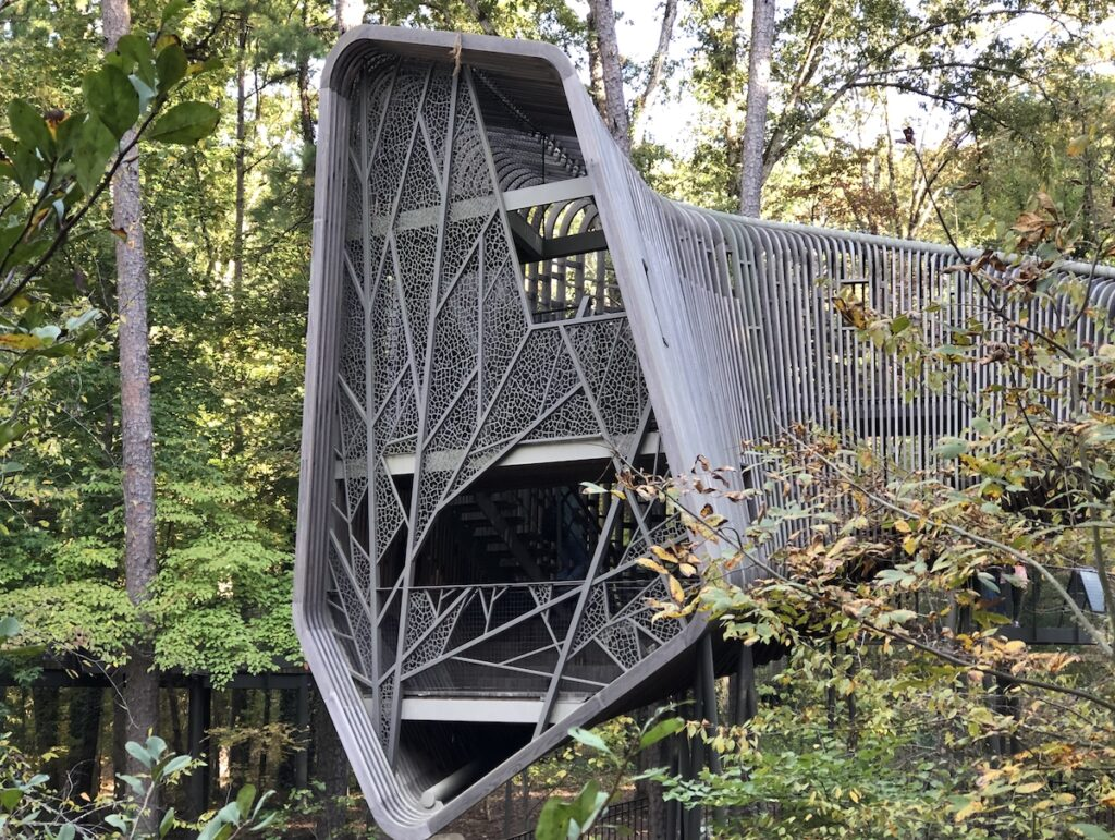 Front view of The Bob and Sunny Evans Tree House.