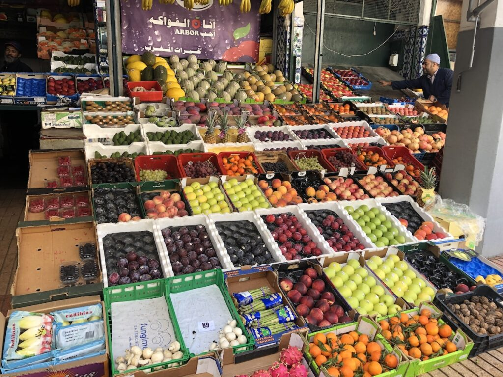 Fruits and veggies for sale in Casablanca.