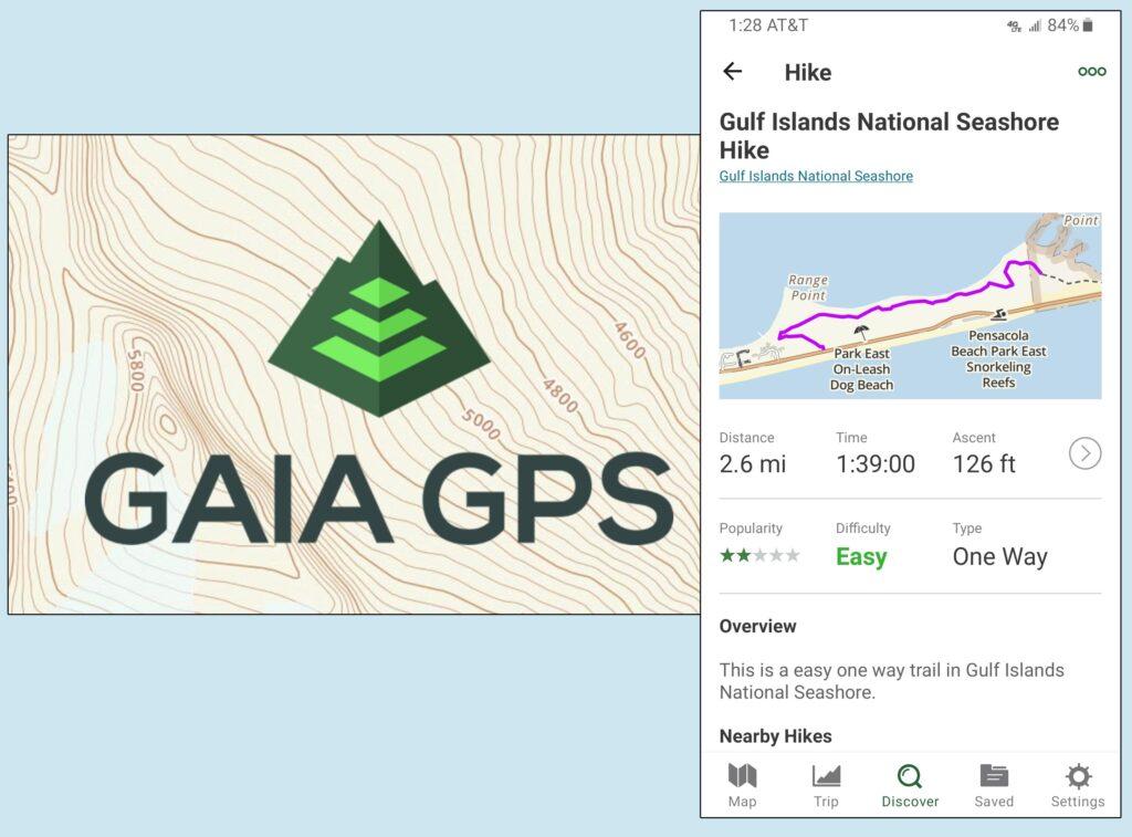 Gaia GPS app.